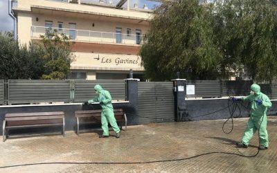 Continua la desinfecció preventiva de les zones sensibles del municipi