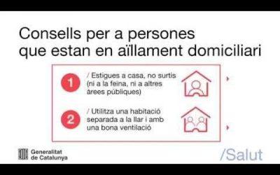 Consells per a persones en aïllament domiciliari