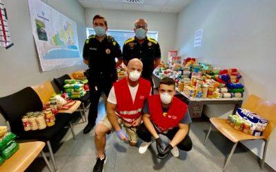 La iniciativa solidària promoguda per La Policia Local recull 500 kg d'aliments