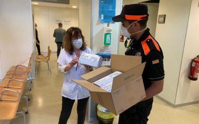 Protecció Civil continua donant suport a la població amb un nou repartiment de 32.896 EPI's