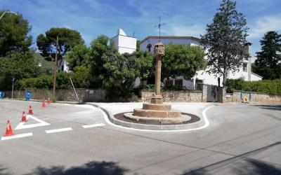 Finalitzades les obres de conversió en zona de vianants de la Creu del Terme, al barri de Bellamar