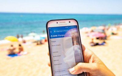 Un nou servei informatiu mostra en temps real el nivell d'ocupació de les platges metropolitanes