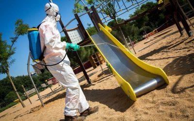 Ús dels parcs infantils, amb mesures de seguretat sanitària