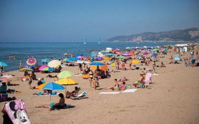 La platja del Baixador registra durant el cap de setmana l'ocupació més elevada amb un 75%