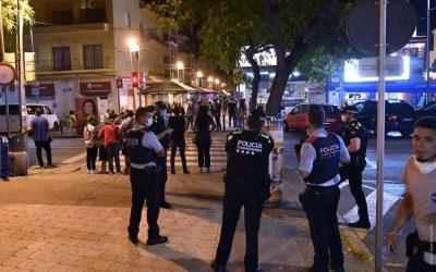 Vint denúncies als controls policials del cap de setmana en les zones d'oci nocturn