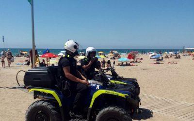 Cap de setmana sense incidències i elevada a ocupació a la platja de Castelldefels