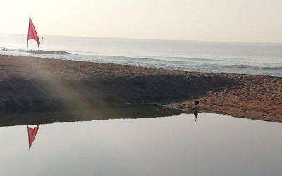 Bandera vermella a la platja de la Pineda per possible afectació de la qualitat de l'aigua