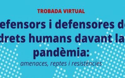 El drets humans durant la pandèmia, objecte d'una trobada virtual aquest dilluns