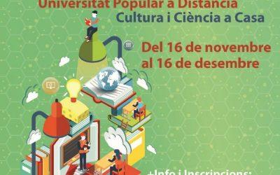 Comencen les activitats de la Setmana de la Ciència 2020 i la Universitat Popular a Distància