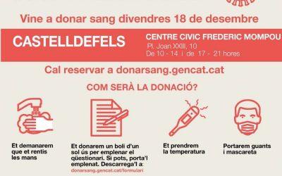 Castelldefels acoge este viernes una nueva campaña de donación de sangre