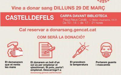 Castelldefels acull el proper 29 de març una nova campanya de donació de sang