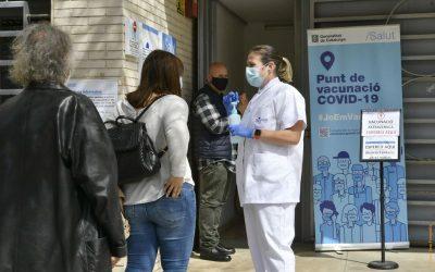 Més de 8.000 persones vacunades contra la COVID en primera dosi a Castelldefels