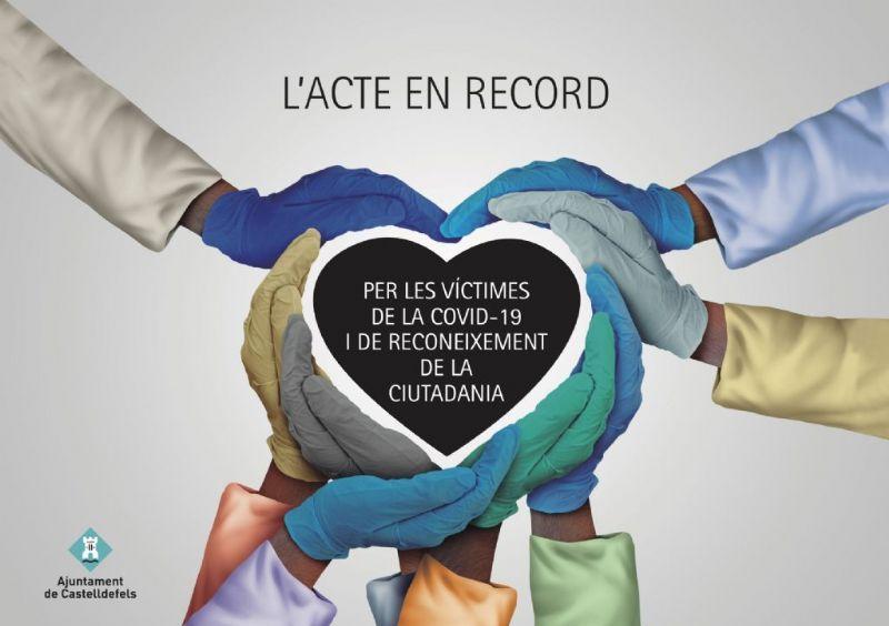 Castelldefels organitza un acte en record a les persones que ens han deixat per la pandèmia